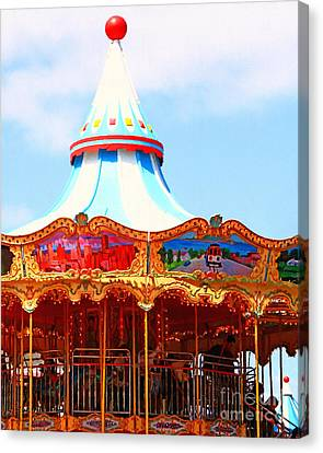 The Carousel At Pier 39 San Francisco California . 7d14342 Canvas Print by Wingsdomain Art and Photography