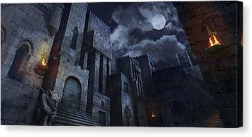 The Castle Canvas Print by Virginia Palomeque