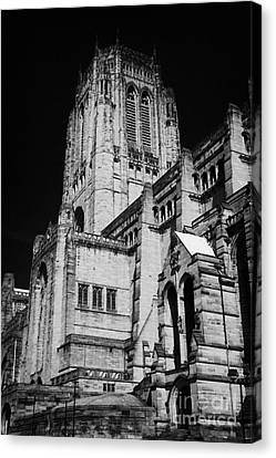 the Cathedral Church of Christ Liverpool Anglican Cathedral Merseyside England UK Canvas Print by Joe Fox