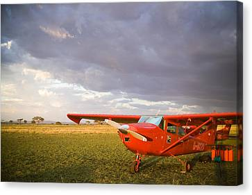 The Cessna Makes A Pit Stop To Refuel Canvas Print by Michael Fay