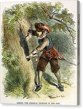 The Charter Oak, 1687 Canvas Print by Granger