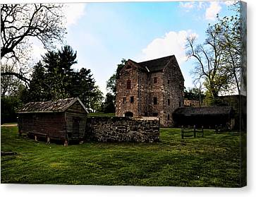 The Chicken Coop And The Barn Canvas Print by Bill Cannon