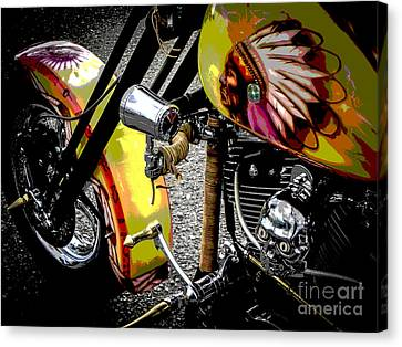 The Chief Rides Canvas Print by Chuck Re