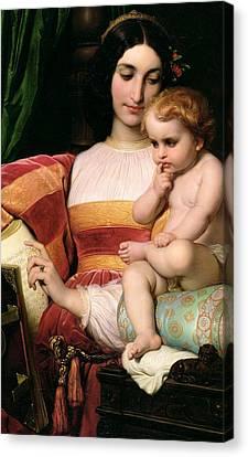 The Childhood Of Pico Della Mirandola Canvas Print by Hippolyte Delaroche