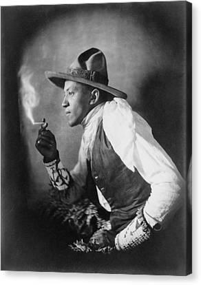 The Cigarette, American Dakota Indian Canvas Print by Everett