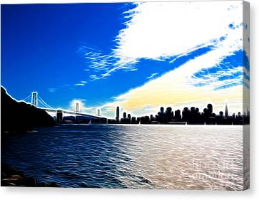 The City By The Bay Canvas Print by Wingsdomain Art and Photography