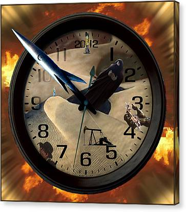 The Clock Is Ticking Canvas Print by E  Kraizberg