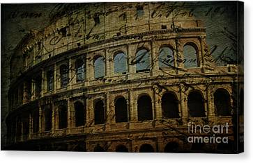 The Colosseum Of Rome Canvas Print by Lee Dos Santos