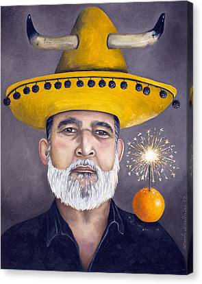 The Competitive Sombrero Couple 2 Canvas Print by Leah Saulnier The Painting Maniac