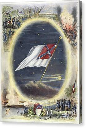 The Confederate Flag, 1867 Canvas Print by Granger