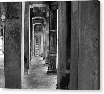 The Corridor Canvas Print by Donna Caplinger
