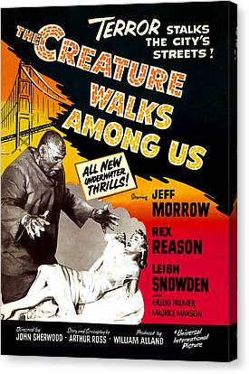 The Creature Walks Among Us, 1956 Canvas Print by Everett