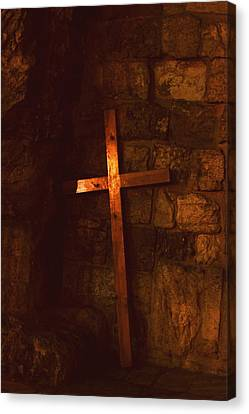 The Cross Canvas Print by Amr Miqdadi