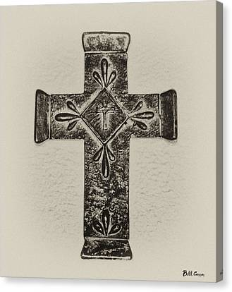 The Cross Canvas Print by Bill Cannon