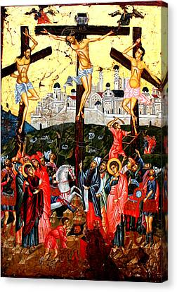 The Crucifixion Canvas Print by Artur Sula
