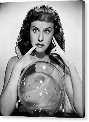 The Crystal Ball, Paulette Goddard, 1943 Canvas Print by Everett