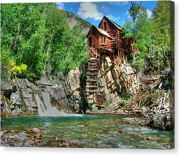 The Crystal Mill 1 Canvas Print by Ken Smith