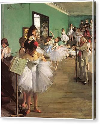The Dance Class Canvas Print by Edgar Degas