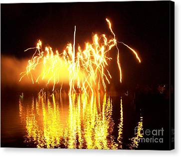 The Dance Of Fire And Water Canvas Print by Sasha Marlay