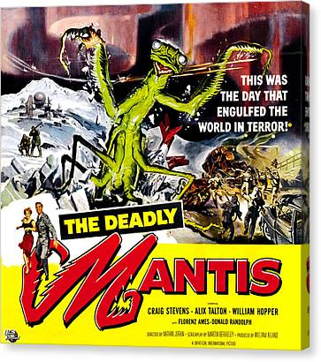 The Deadly Mantis, 6-sheet Poster Art Canvas Print by Everett