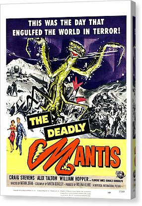 The Deadly Mantis, Bottom From Left Canvas Print by Everett