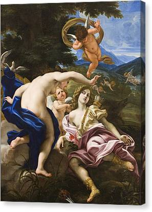 The Death Of Adonis Canvas Print by Il Baciccio