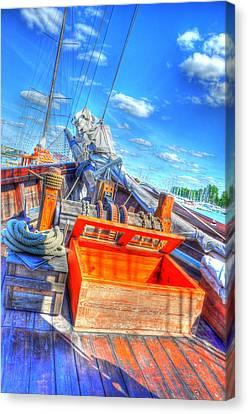 The Deck Canvas Print by Barry R Jones Jr