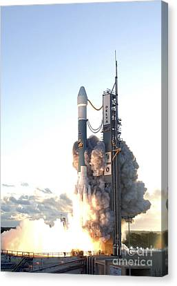 The Delta II Rocket Lifts Canvas Print by Stocktrek Images