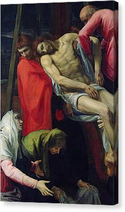 The Descent From The Cross Canvas Print by Bartolome Carducci