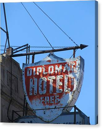 The Diplomat Hotel Chicago Canvas Print by Todd Sherlock