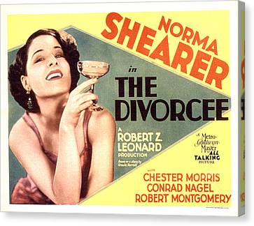 The Divorcee, Norma Shearer, 1930 Canvas Print by Everett