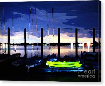 The Dock On The Bay Canvas Print by Paul Ward