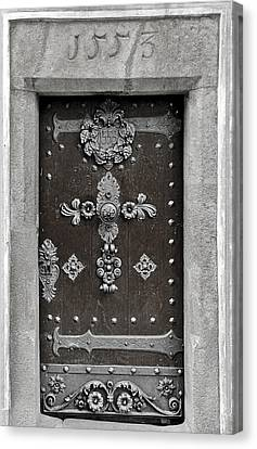 The Door - Ceske Budejovice Canvas Print by Christine Till