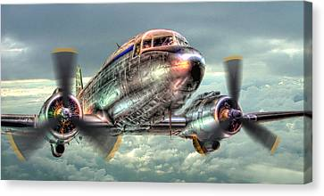 The Douglas C47 Dakota - Hdr Canvas Print by Colin J Williams Photography