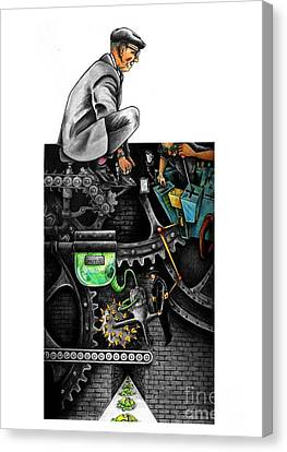 The Dream Machine Canvas Print by Spencer Bower