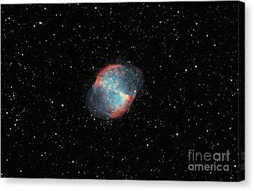 The Dumbbell Nebula Canvas Print by Rolf Geissinger