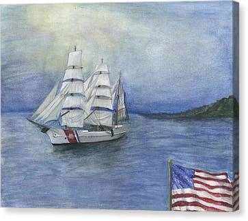 The Eagle Sails Canvas Print by Sarah Howland-Ludwig