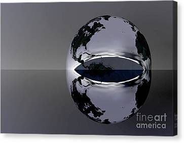 The Earth Reflection Canvas Print by Odon Czintos