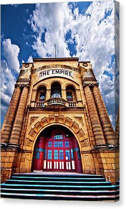 The Empire Theatre Canvas Print by Meirion Matthias