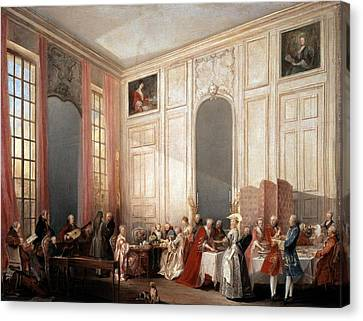 The English Tea In The Salon With Four Mirrors Painting Canvas Print by Photos.com