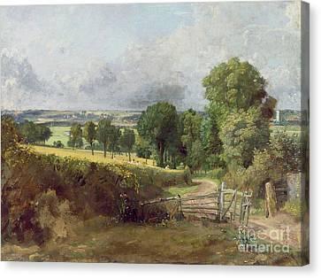 The Entrance To Fen Lane By Constable John Canvas Print by John Constable