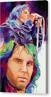 The Faces Of Jim Morrison Canvas Print by David Lloyd Glover