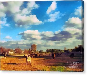 The Farm Canvas Print by Odon Czintos