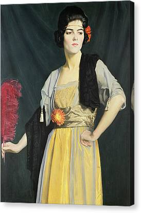 The Feather Fan  Canvas Print by William Strang