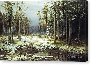 The First Snow Canvas Print by Pg Reproductions