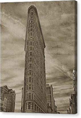 The Flat Iron Building Canvas Print by Kathy Jennings