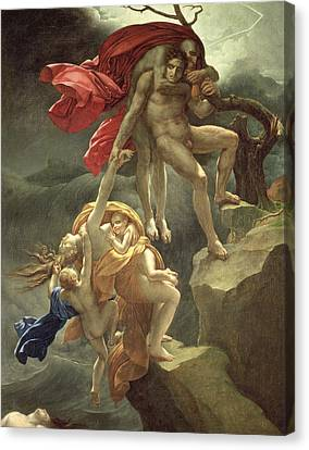 The Flood Canvas Print by Anne Louis Girodet de Roucy-Trioson