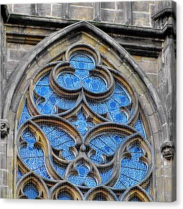 The Folly Of Windows In Prague Canvas Print by Christine Till