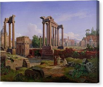 The Forum Rome  Canvas Print by Gustav Palm