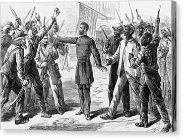 The Freedmens Bureau Was Established Canvas Print by Everett